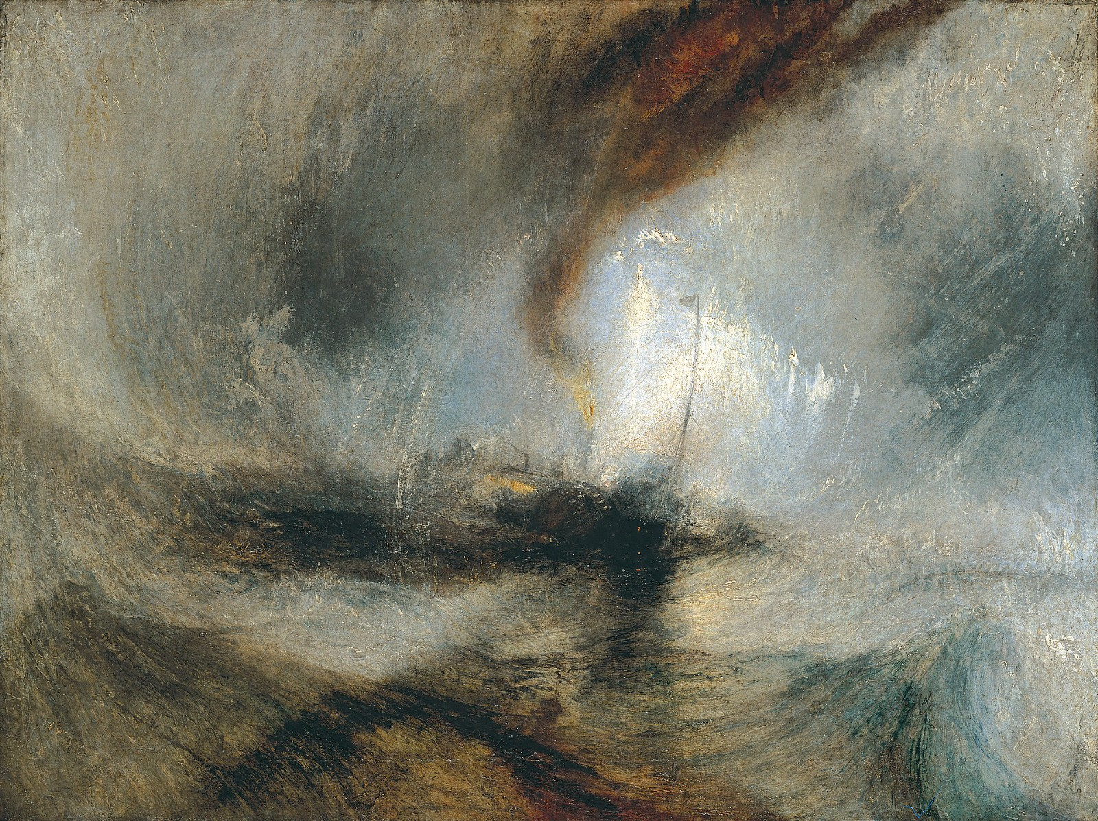 Snow Storm: Steam-Boat off a Harbour's Mouth, J. M. W. Turner, 1842